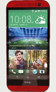 HTC - One (M8) 4G LTE Cell Phone - Red