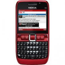 Nokia E6 QWERTY KEYBOARD gsm Un-locked (red)